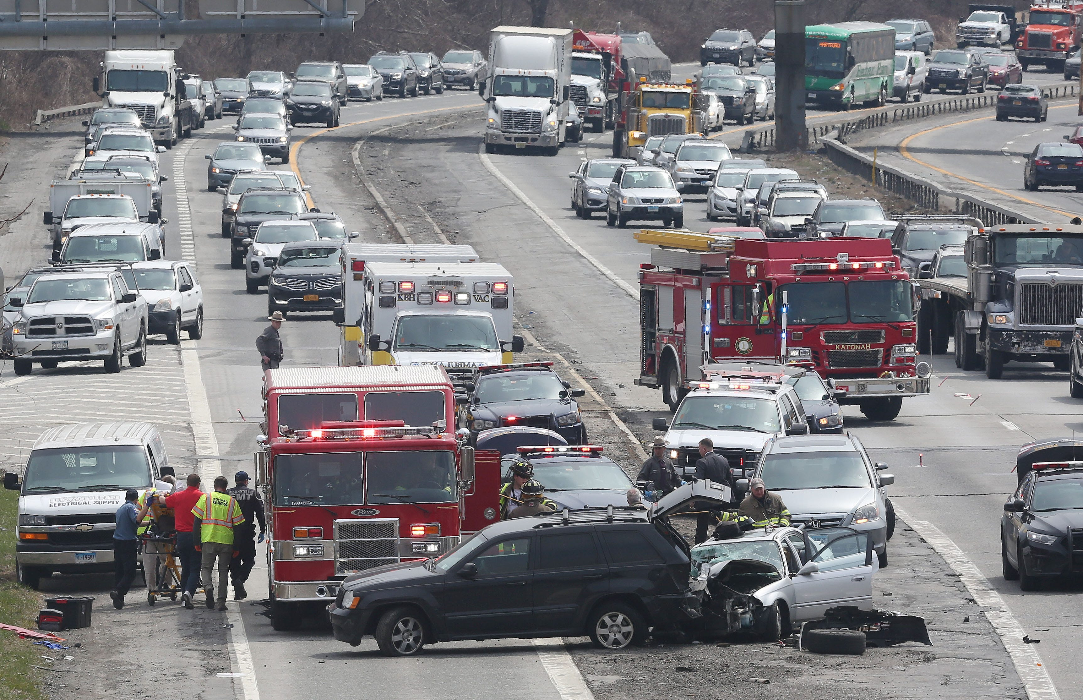 Video: Interstate 684 accident