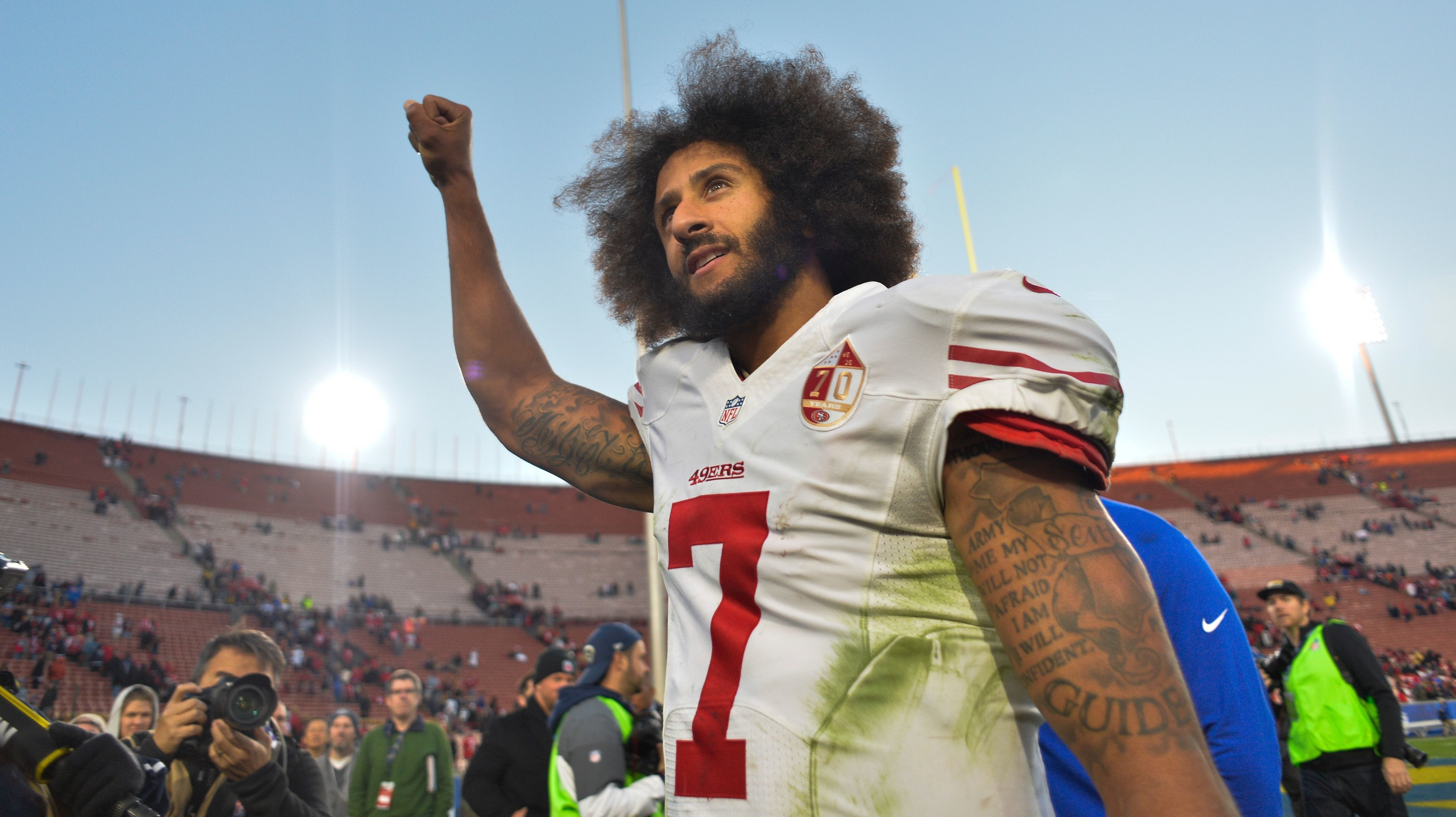 Colin Kaepernick tweets Jackie Robinson quote on national anthem