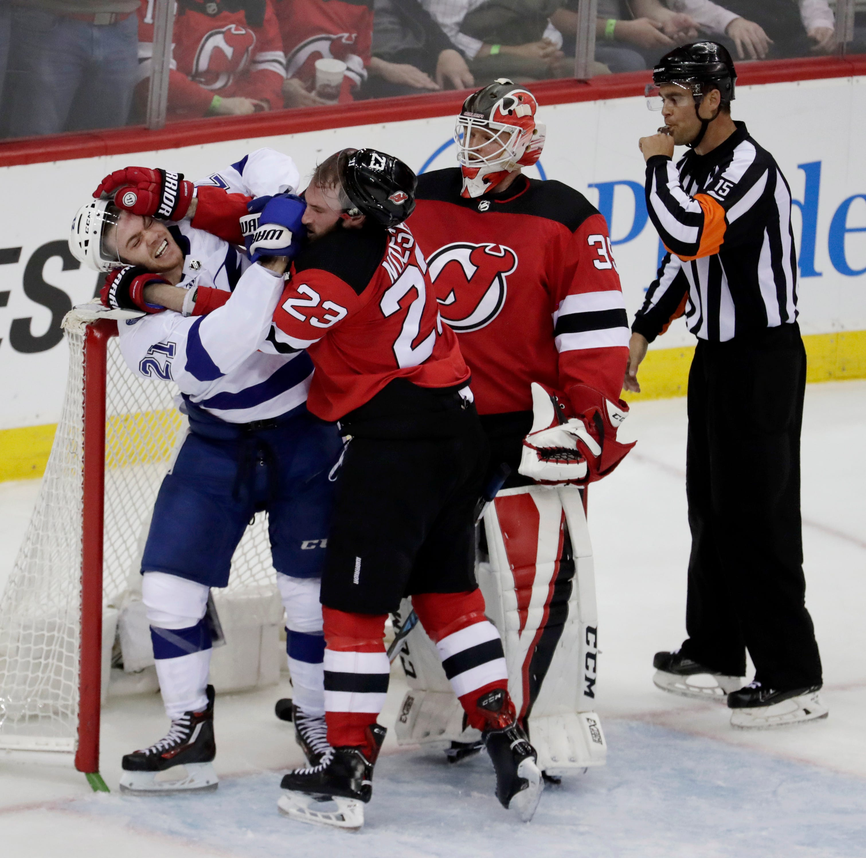 Hall has goal, 2 assists as Devils rally past Lightning, 5-2