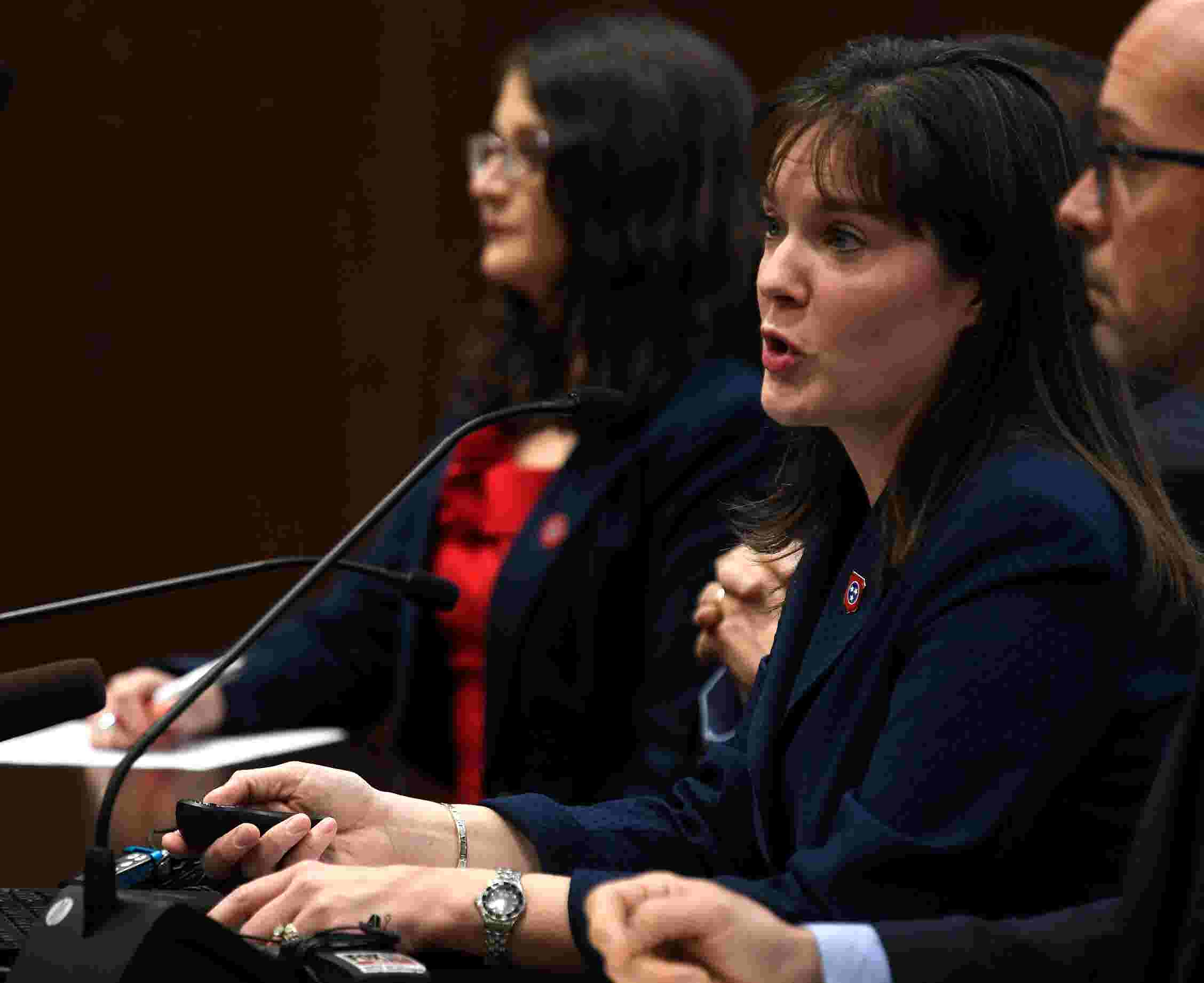 Tennessee Education Commissioner Candice McQueen speaks before state  lawmakers over TNReady