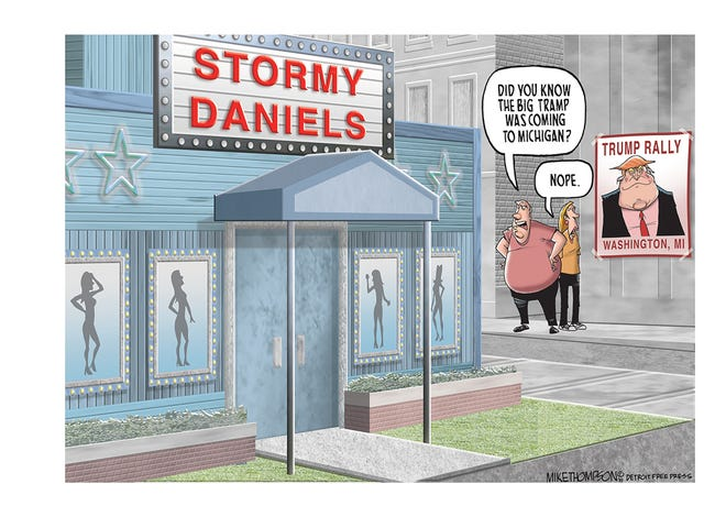 President Trump and Stormy Daniels are in Michigan this week.