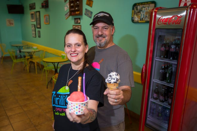 Zirilli's Chilli Treats in Cape Coral offers customers homemade Italian ice and ice cream. Owners Barbara Zirelli-Lonergan and Matthew Lonergan will be celebrating their fourth anniversary in August.