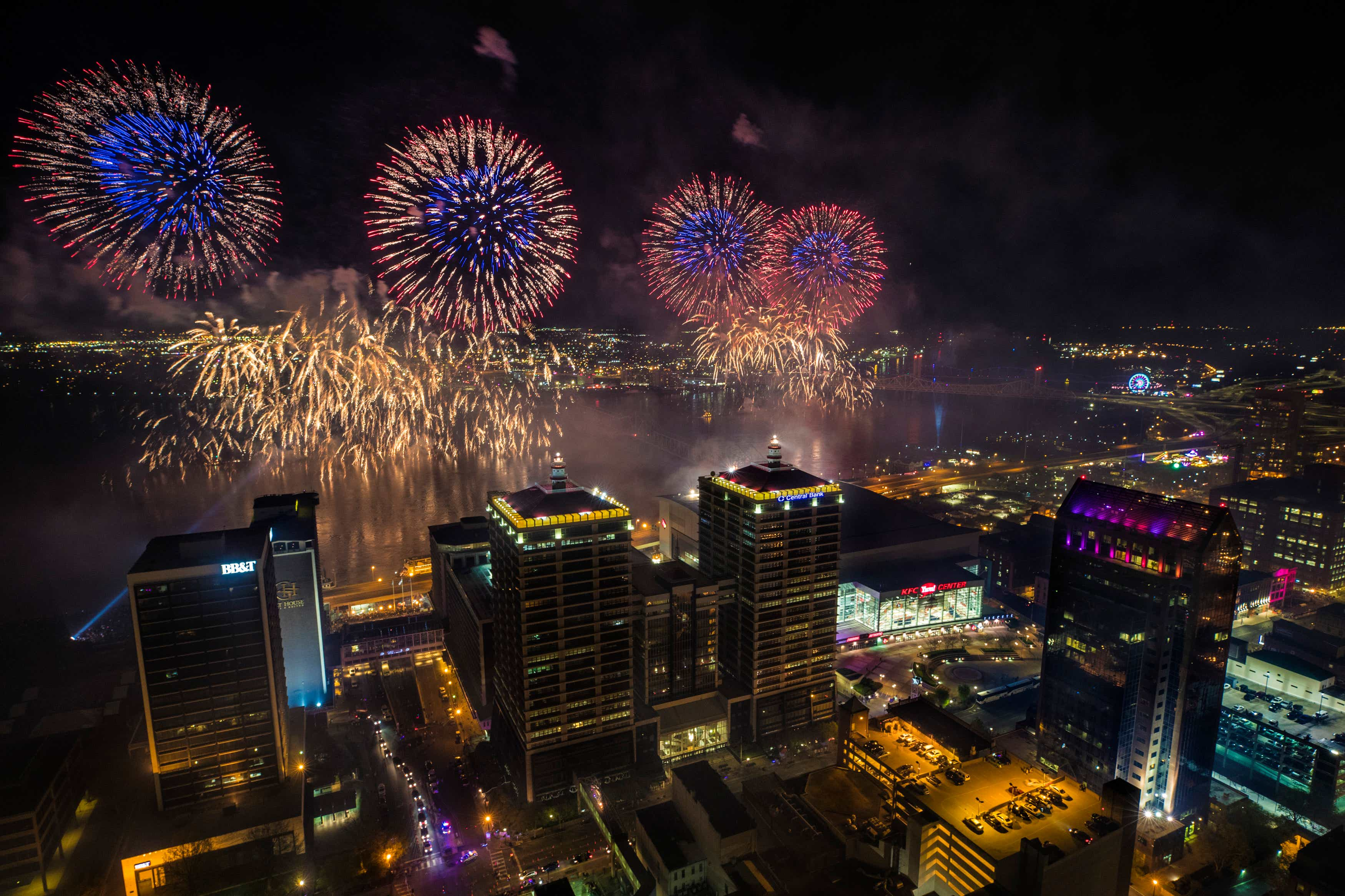 Here's what Thunder Over Louisville 2018 looked like from the city's  tallest building