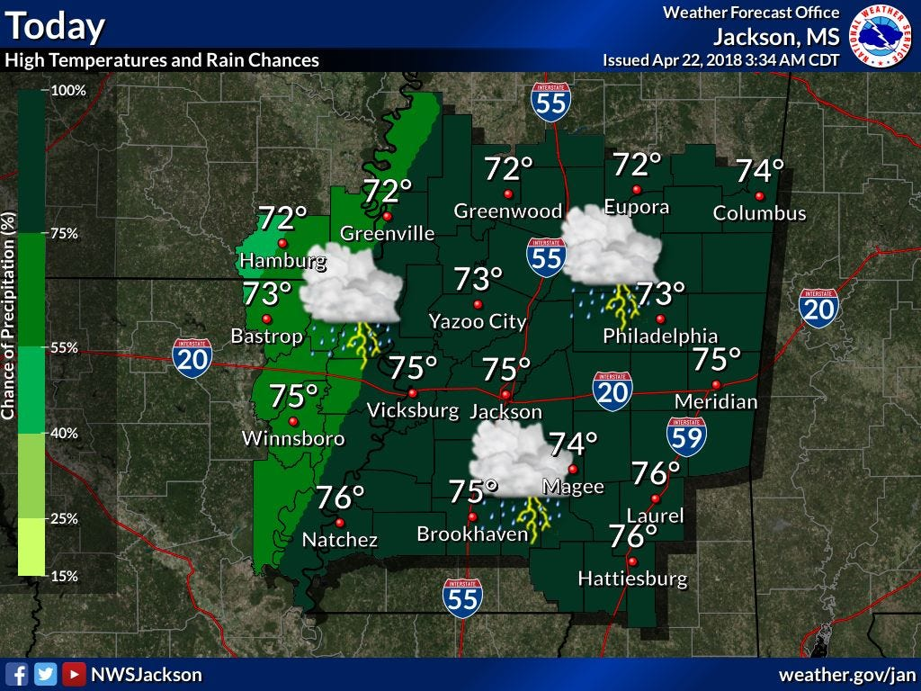 Tornado warning in Rankin County, Sunday weather could bring other threats   Clarion Ledger