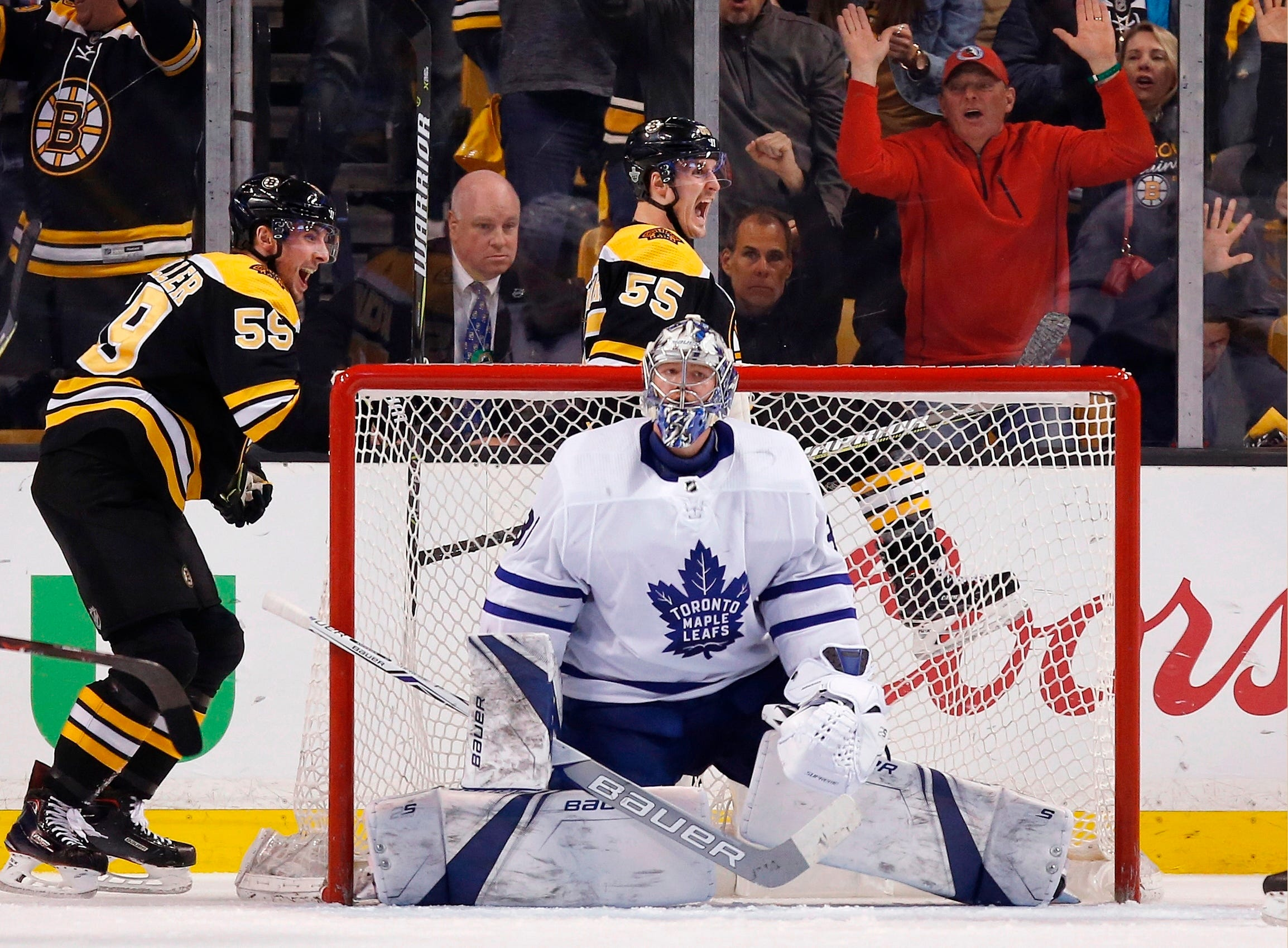 Maple Leafs beat Bruins 4-3, avoid elimination in Game 5