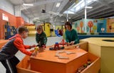 Aha! Children's Museum's new building opened to the public Monday, April 23, 2018. The new building is located near River Valley Mall in Lancaster.