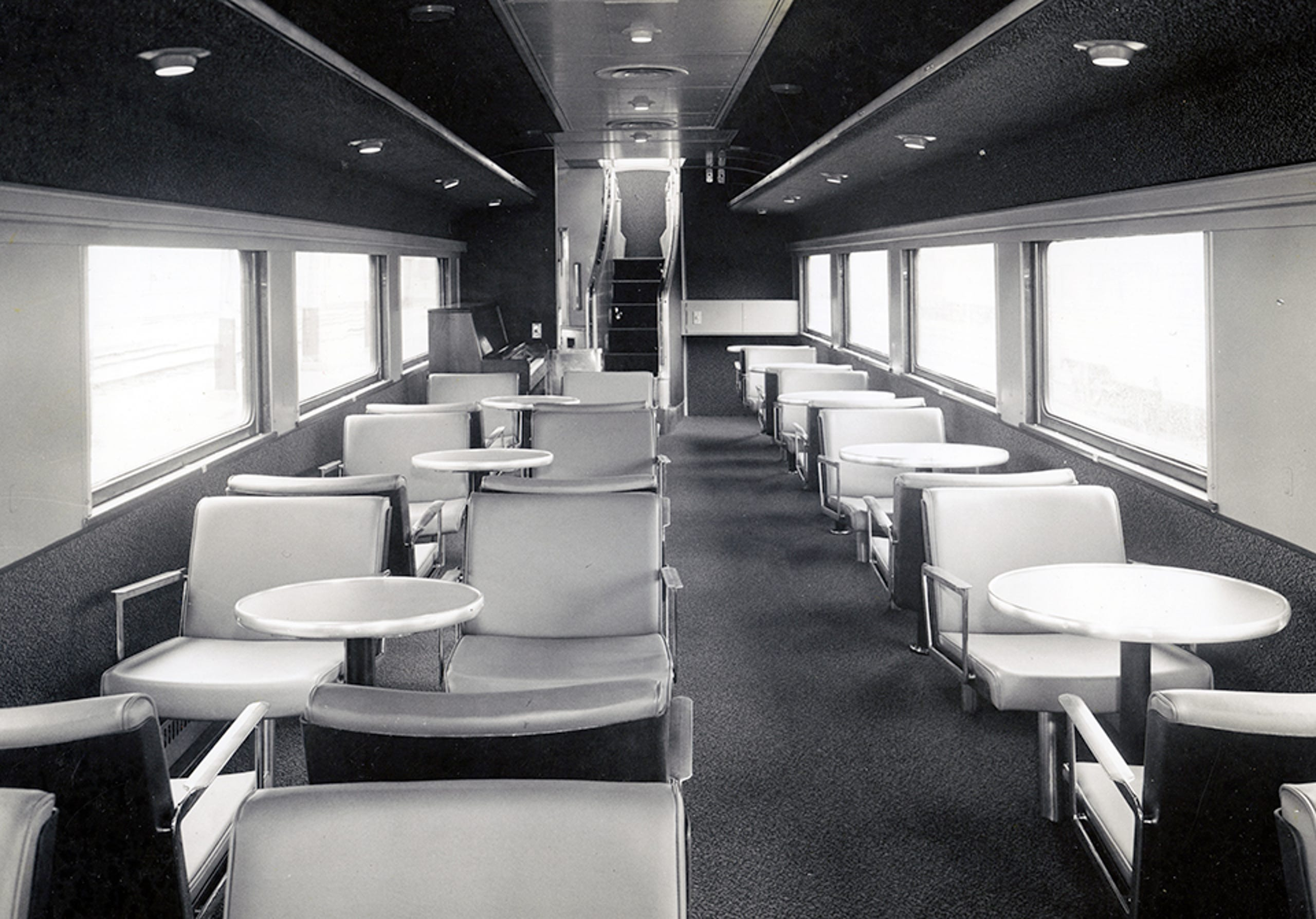 Amtrak passenger cars from the 1970s to today