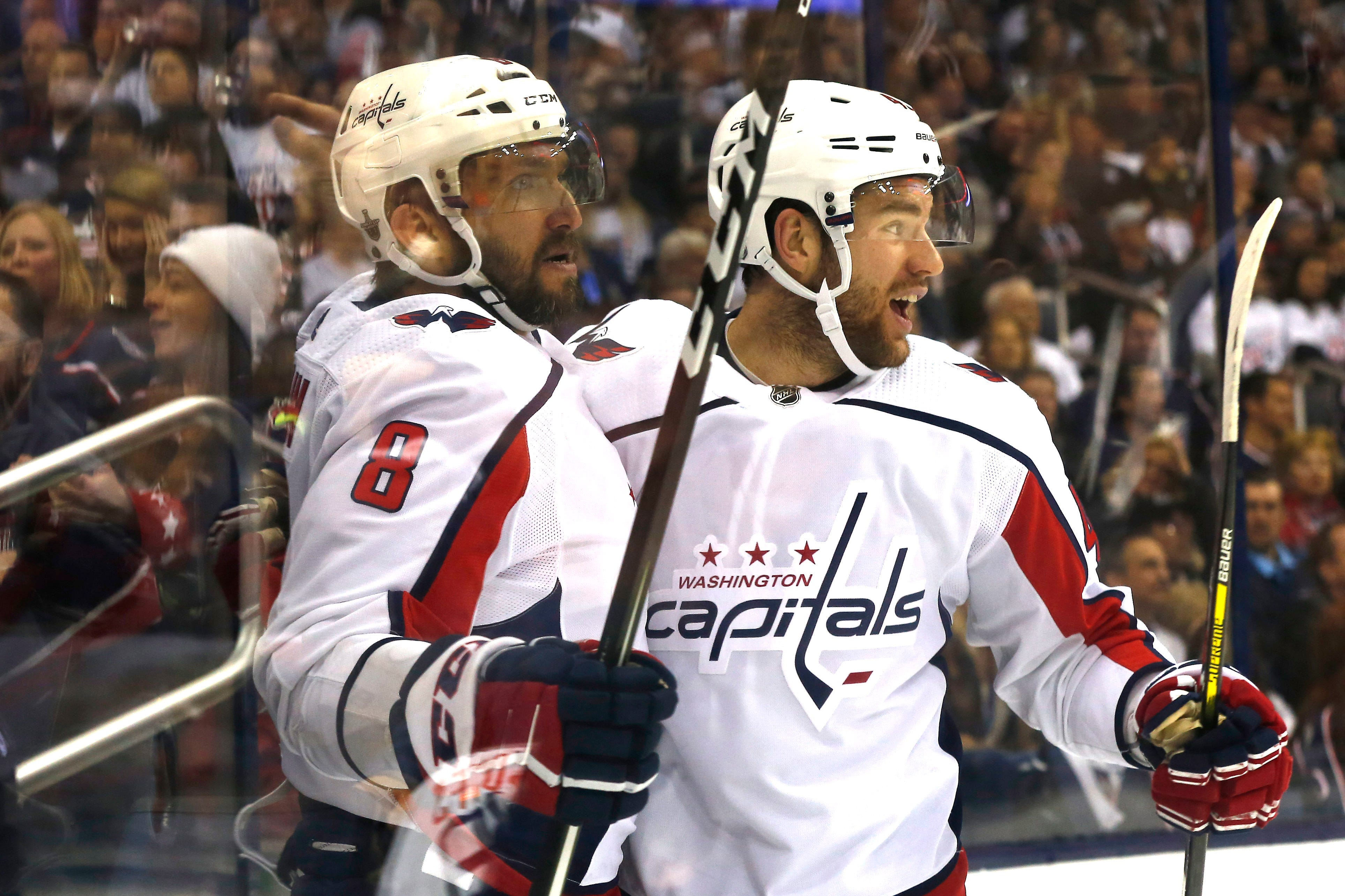 73a4ab595 Capitals advance with 6-3 win against Blue Jackets Alex Ovechkin scored  twice and the Washington Capitals advanced to the Eastern Conference  semifinals. a ...