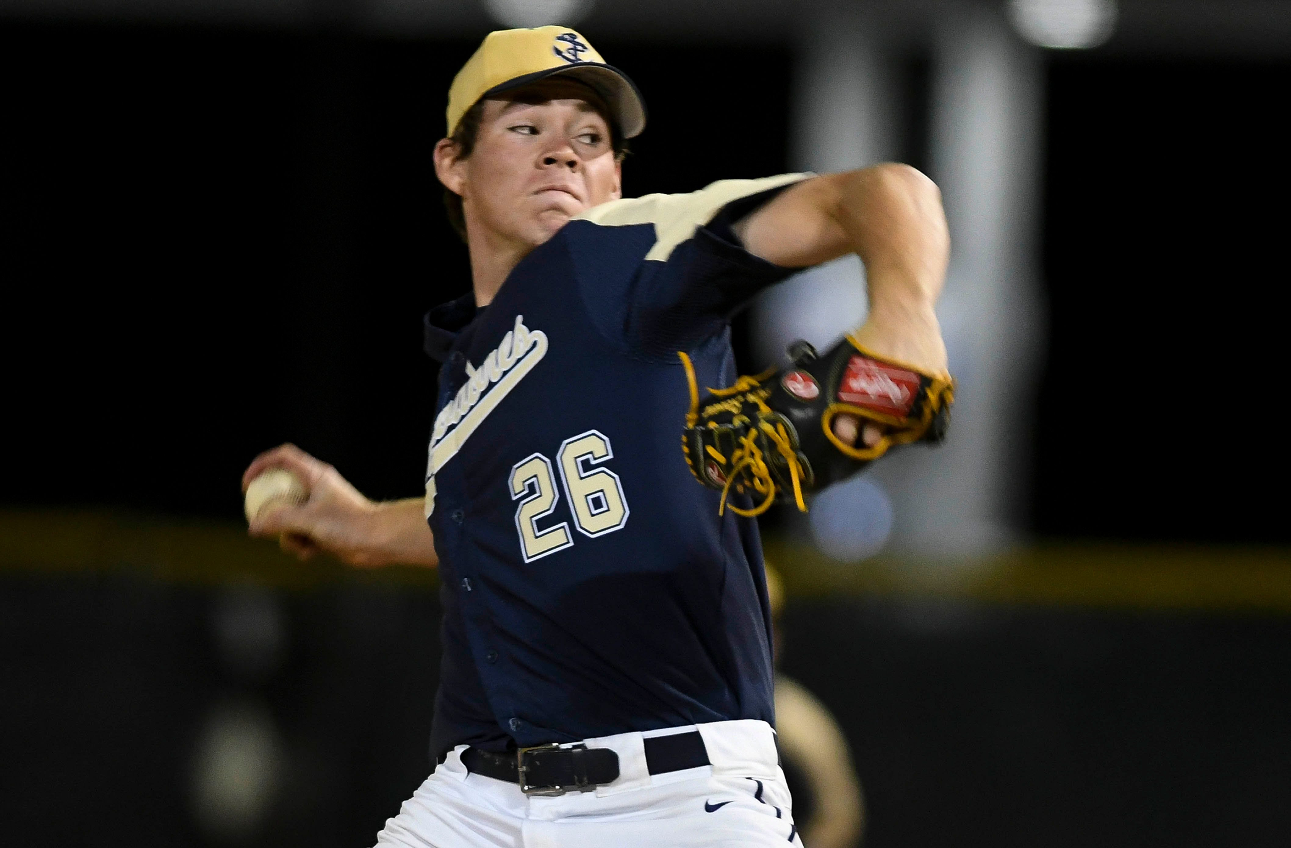 Eau Gallie pitcher Carter Stewart keeps focus on mound and tee