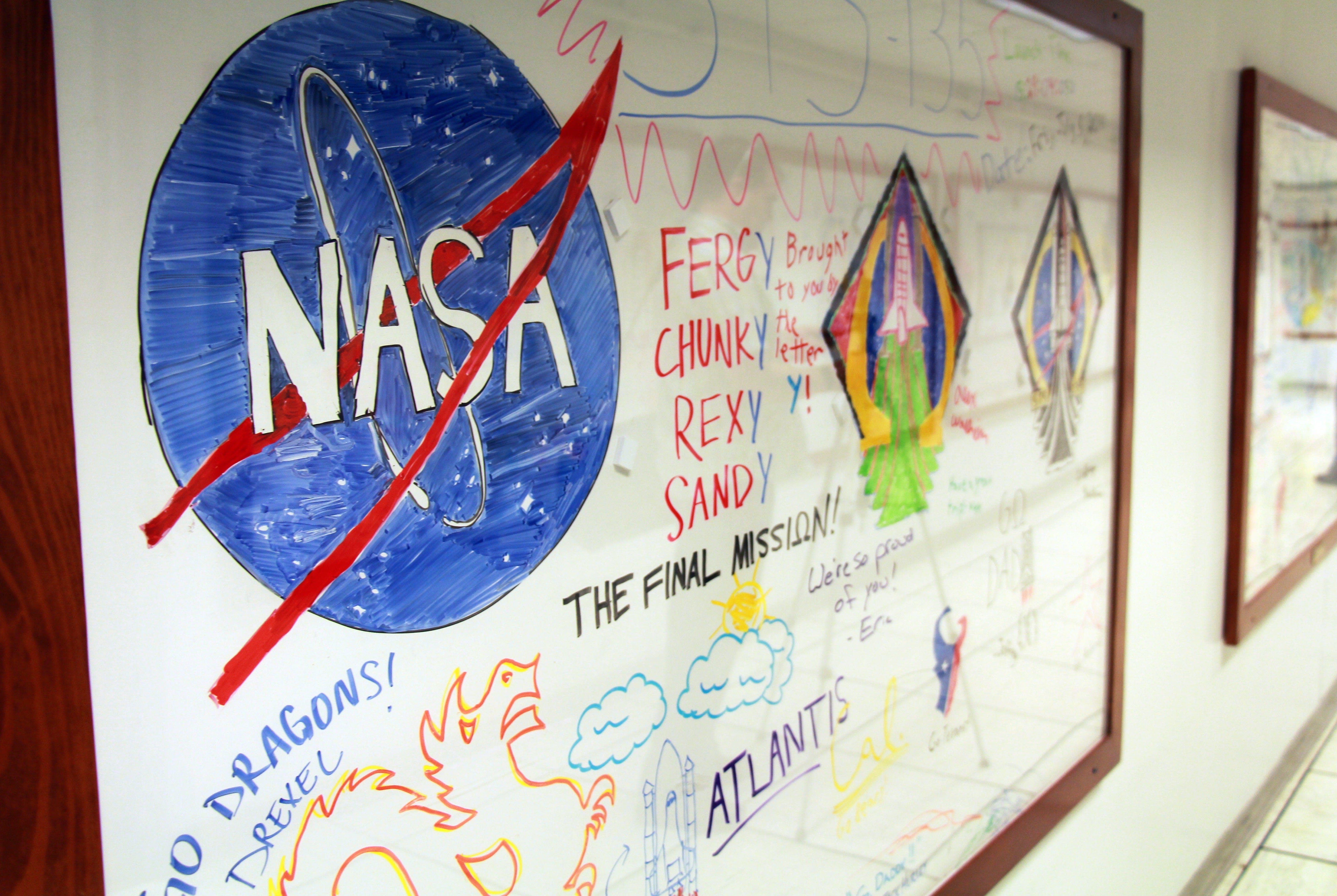 636601699556119503-IMG-9492 NASA whiteboards: Intimate look at art by astronauts' kids as mom, dad launched into space