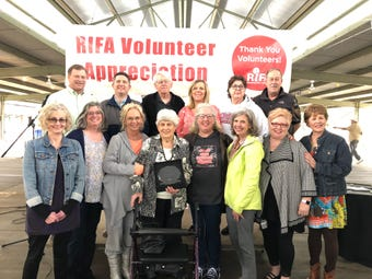 "RIFA honors long-time volunteer Wanda ""Sarge"" Hayes with the Lifetime Achievement Award. Hayes has been a volunteer since 1978."