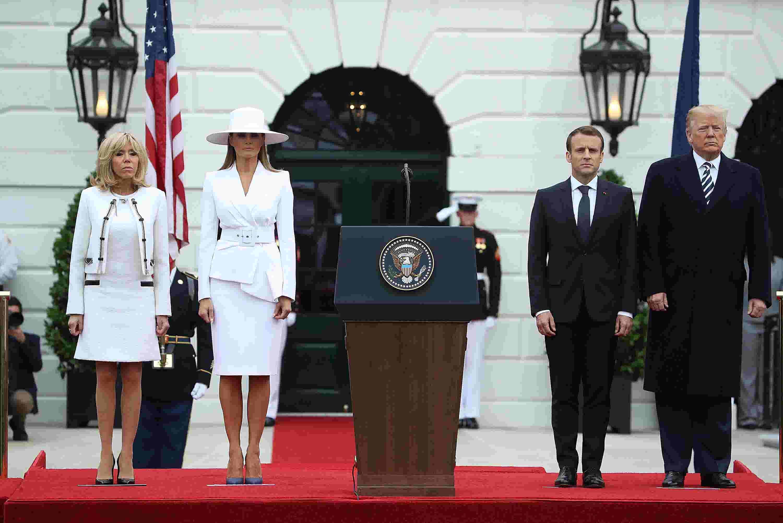 Melania s white hat and suit gain Beyoncé fcb2c8177