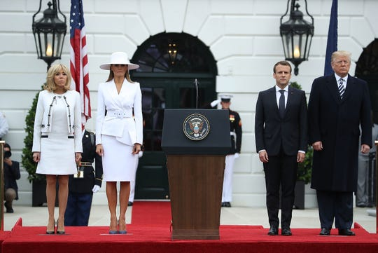 Trump shows closeness with Macron, not so much with Ronny Jackson