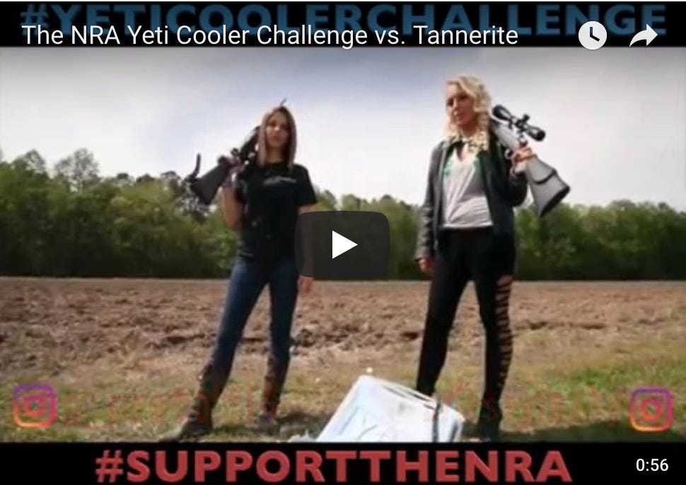 'This Yeti ain't ready:' NRA fans blow up Yeti coolers in protest for #YetiCoolerChallenge | Burlington Free Press