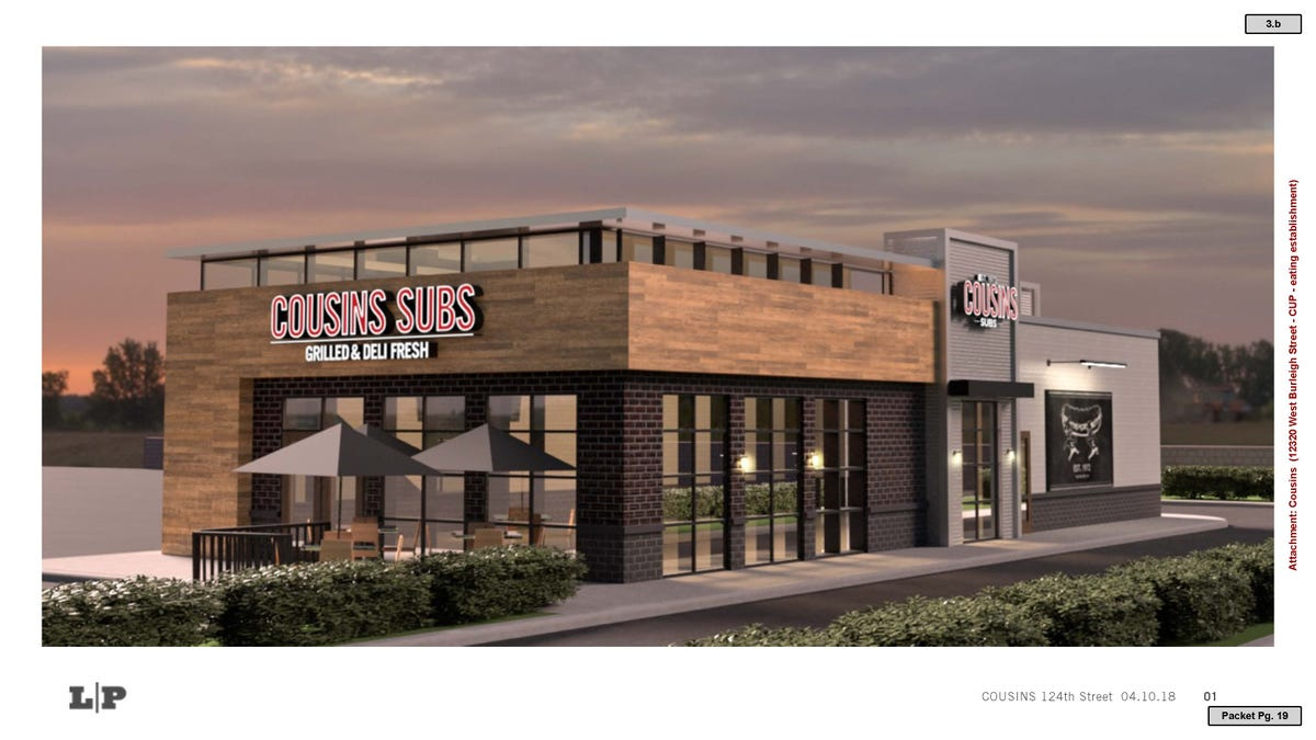 Cousins Subs plans to move into a new building in Wauwatosa
