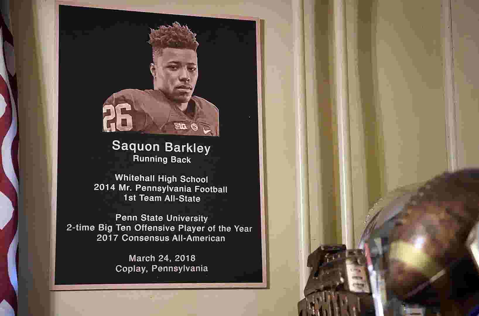 Saquon Barkley  Inside the home and around the town of the Giants draft pick 79a4a8d02