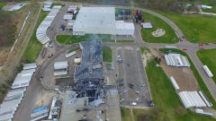Watch: Drone footage of the Meridian Magnesium fire and damage