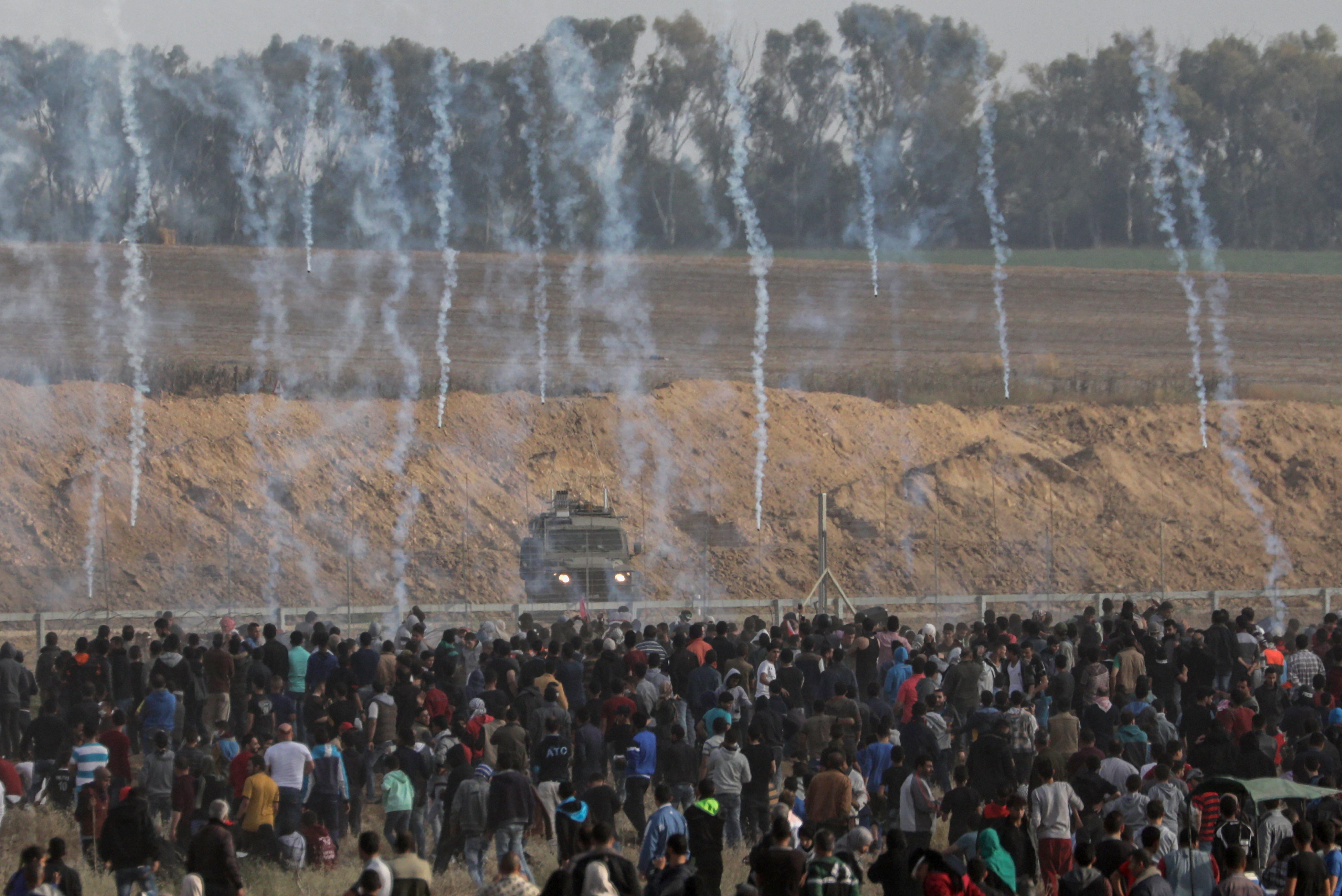 Why is Israel shooting at Palestinian demonstrators in Gaza?