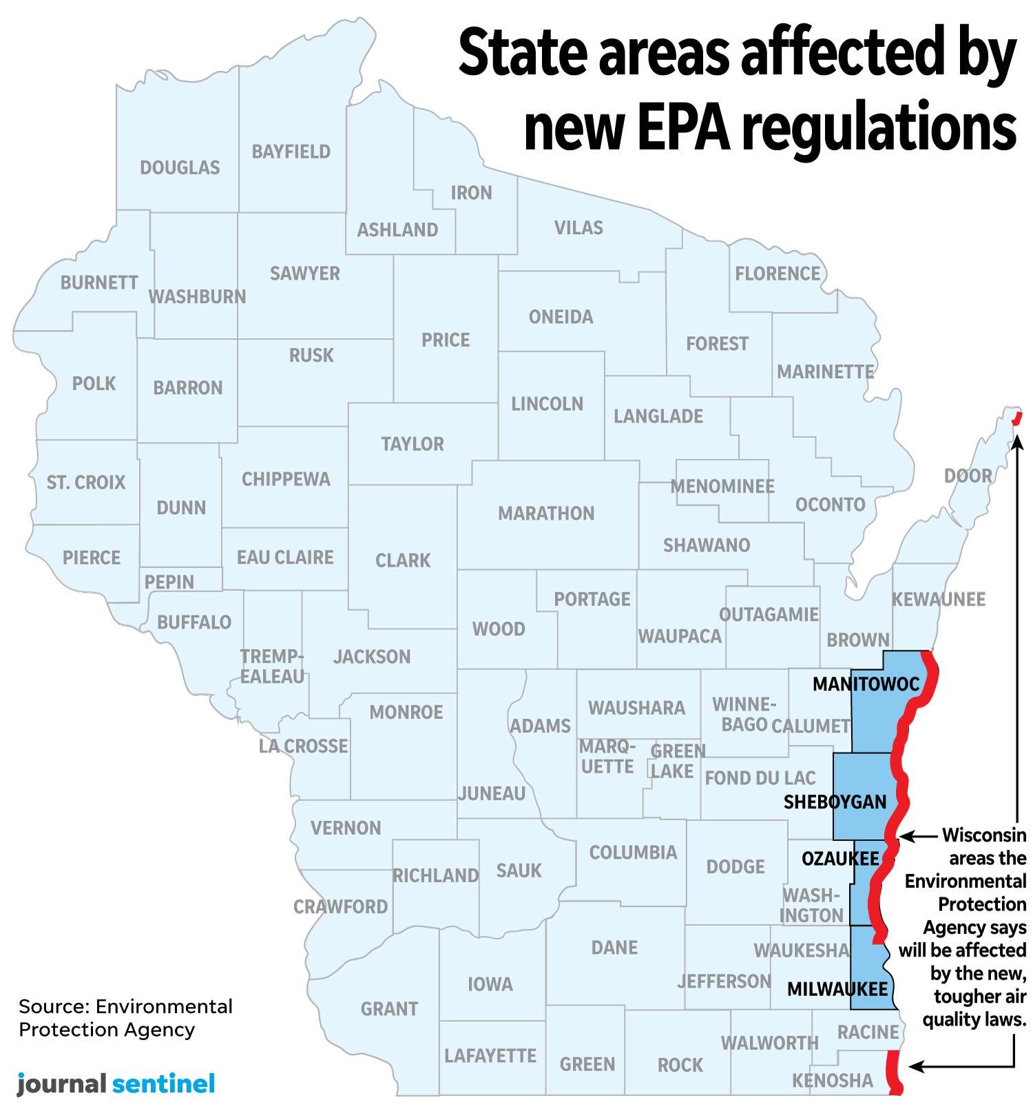 Emission Test Kenosha >> Epa Dramatically Narrows Areas Of Wisconsin Subject To