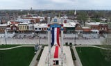 See drone video before and after the tulips bloom ahead of the Tulip Time Festival in downtown Pella.