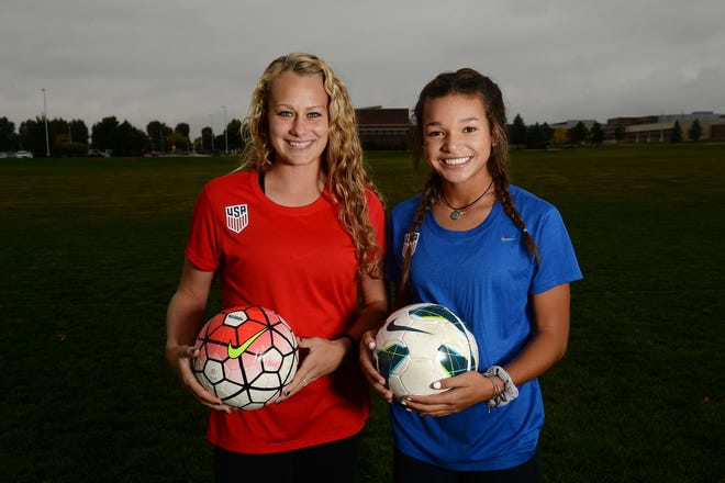 Jaelin Howell, left, and Sophia Smith are shown in a 2016 photo. The former Northern Colorado youth soccer teammates both made their debut with the senior U.S. soccer national team against Netherlands on Nov. 27, 2020.