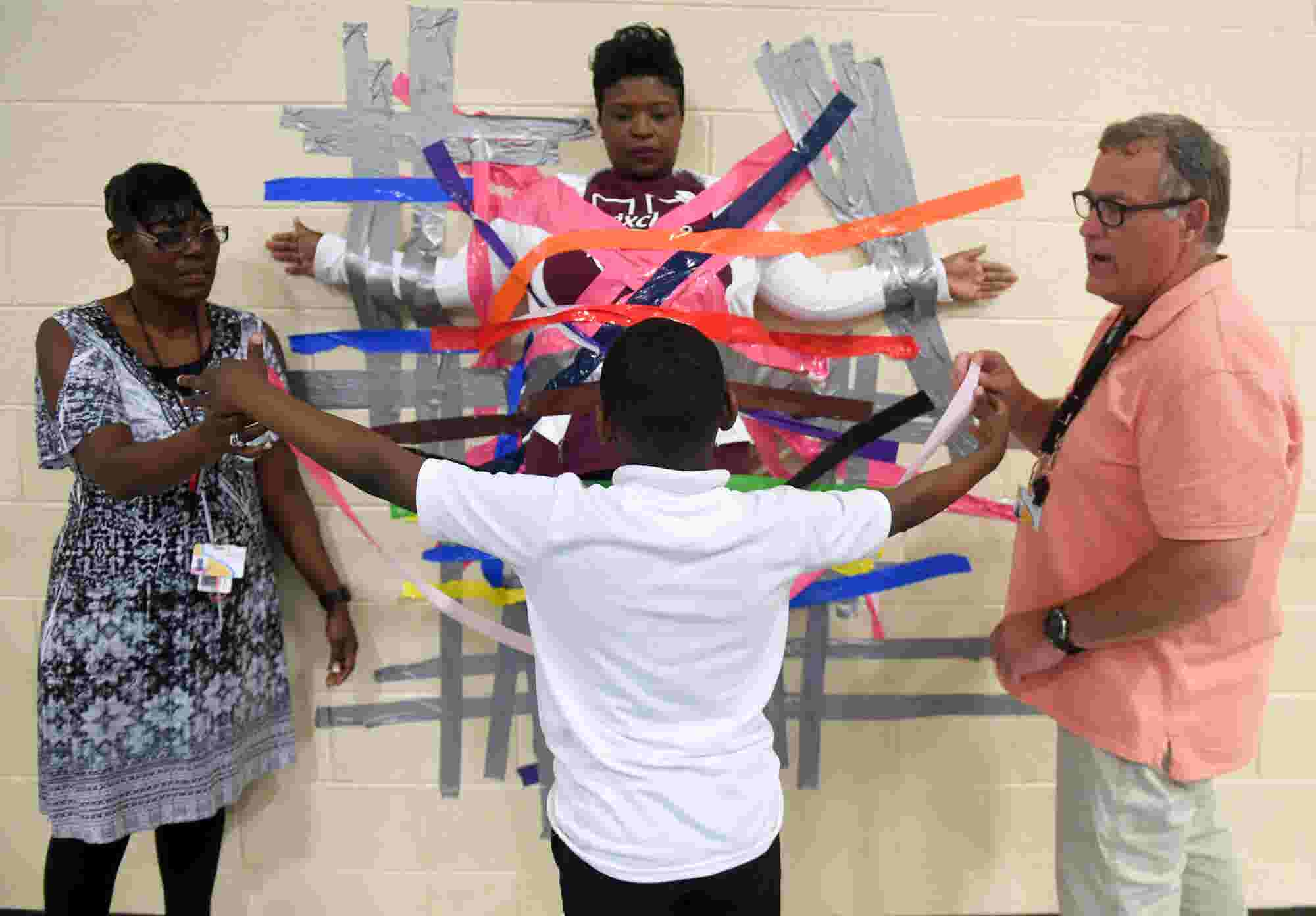 Andrew Jackson Tapes Principal To Wall Helps Relay For Life