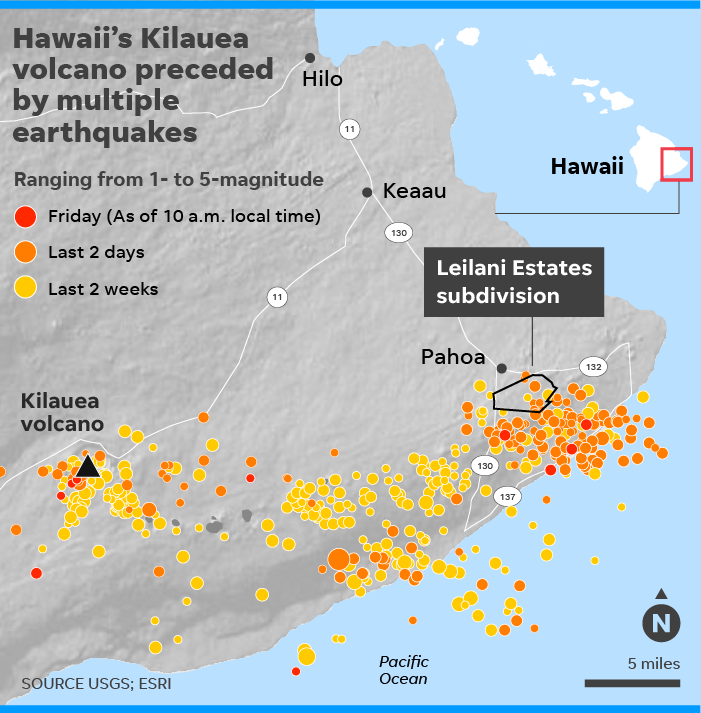 Hawaii\'s Kilauea volcano: Earthquakes hit island as lava damages homes