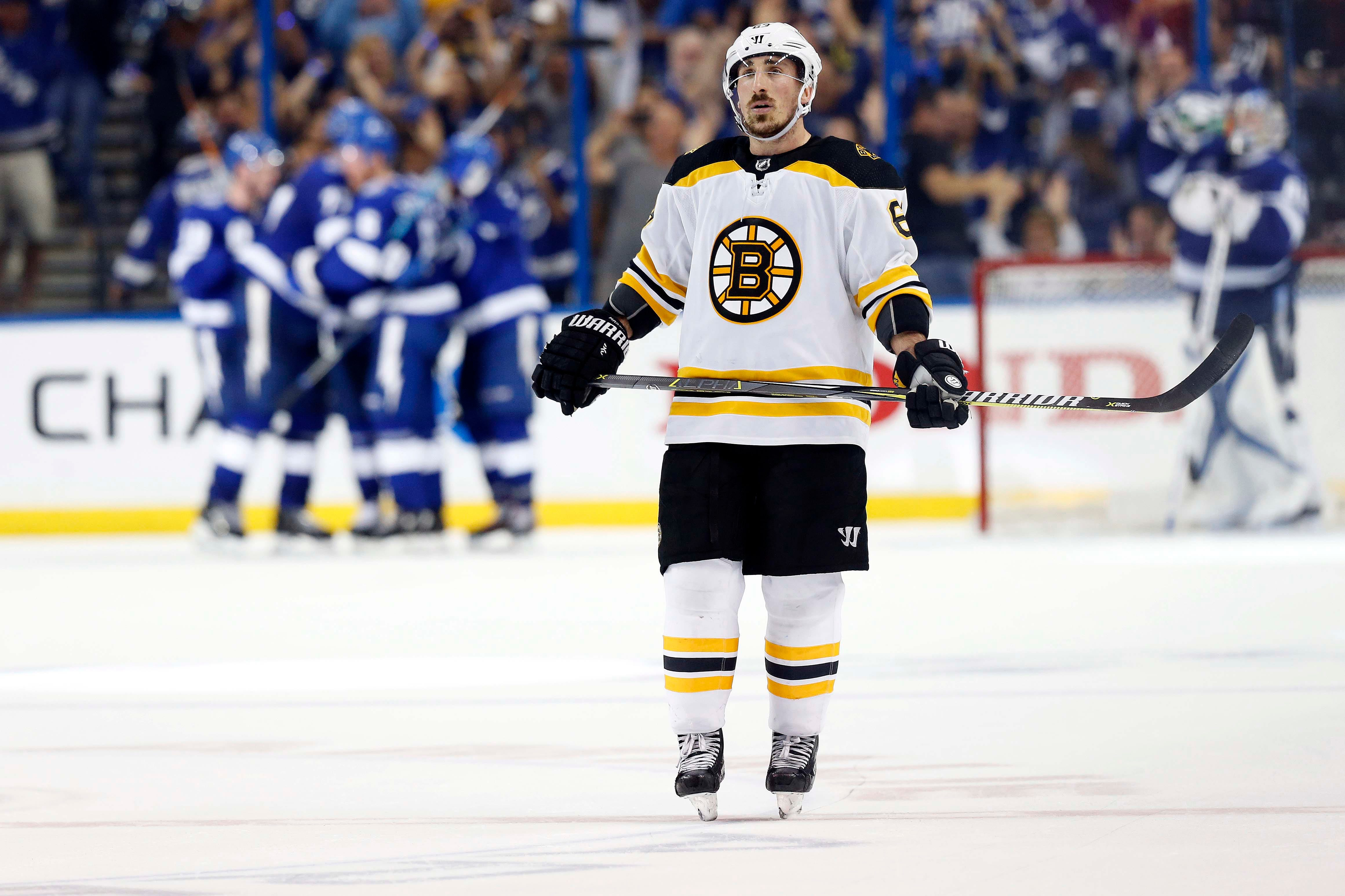 Brad Marchand on NHL's warning him about licking players: 'I think it's pretty stupid'