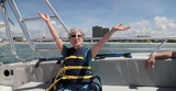 "Helen Bass celebrated her 94th birthday by parasailing on Fort Myers Beach in Florida. Hear her yell ""woo-hoo"" and ""yippee"" as she fearlessly soars up to 400 feet."