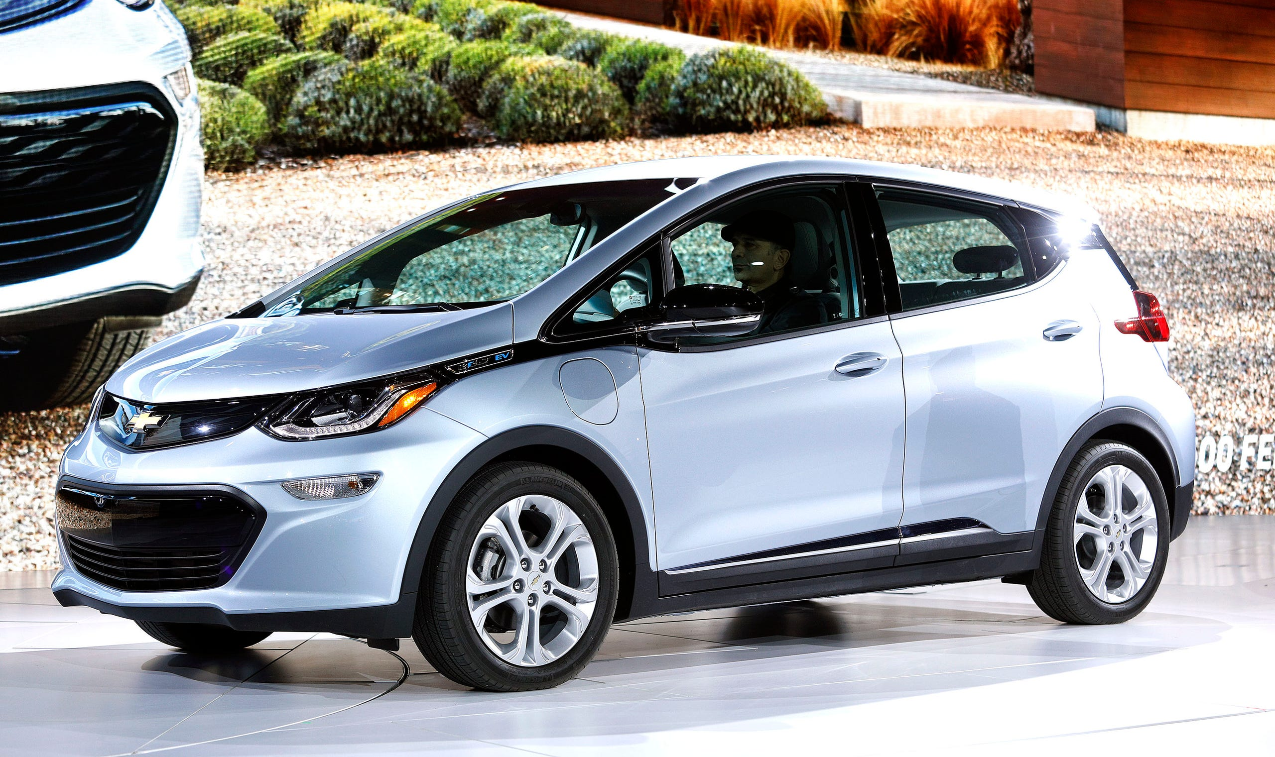 The Chevrolet Bolt Ev Is Shown On Stage At 2017 North American International Auto Show