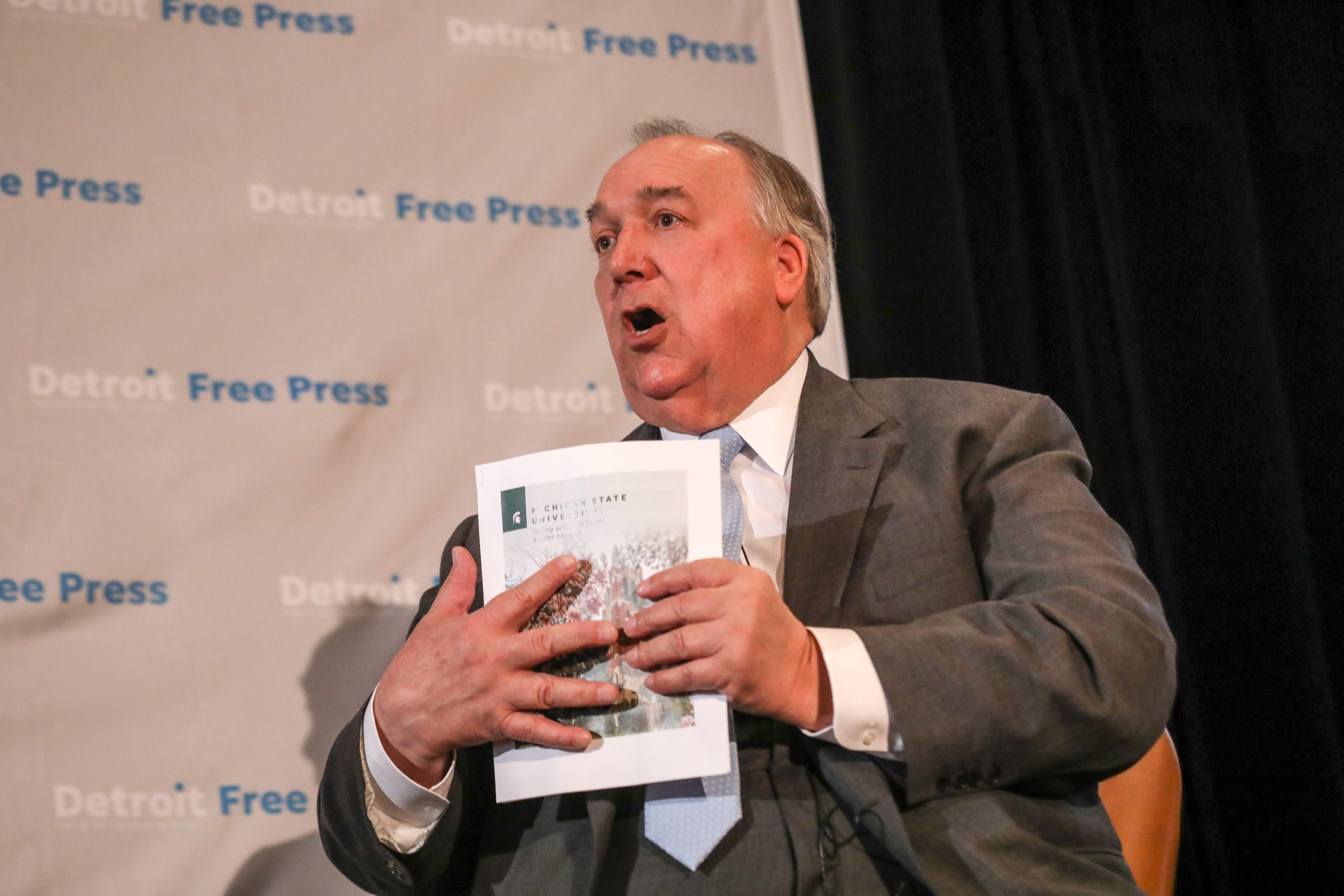 MSU President Engler: Nassar survivor may get kickbacks from lawyers