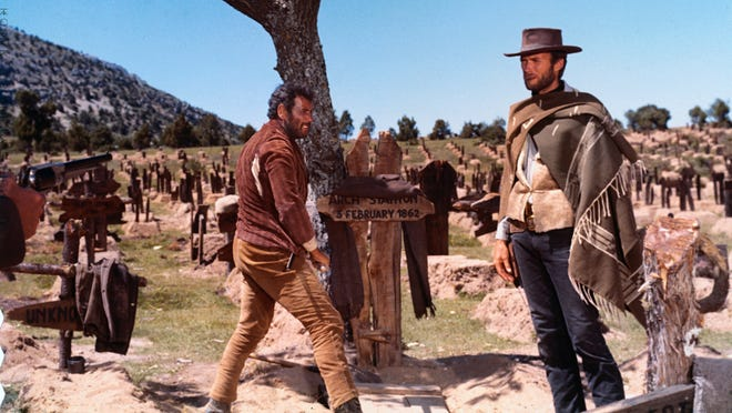 """1966 • Most popular movie: """"The Good, the Bad and the Ugly"""" • Director:  Sergio Leone • Starring:  Clint Eastwood, Eli Wallach, Lee Van Cleef • Domestic box office:  $6.1 million"""