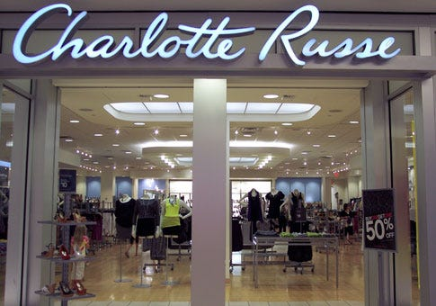 Charlotte Russe will close all of its stores and start liquidation
