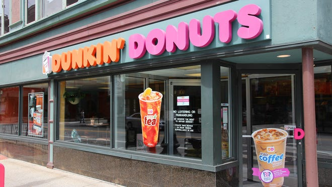 A sign at a Dunkin Donuts location in Maryland has sparked controversy.