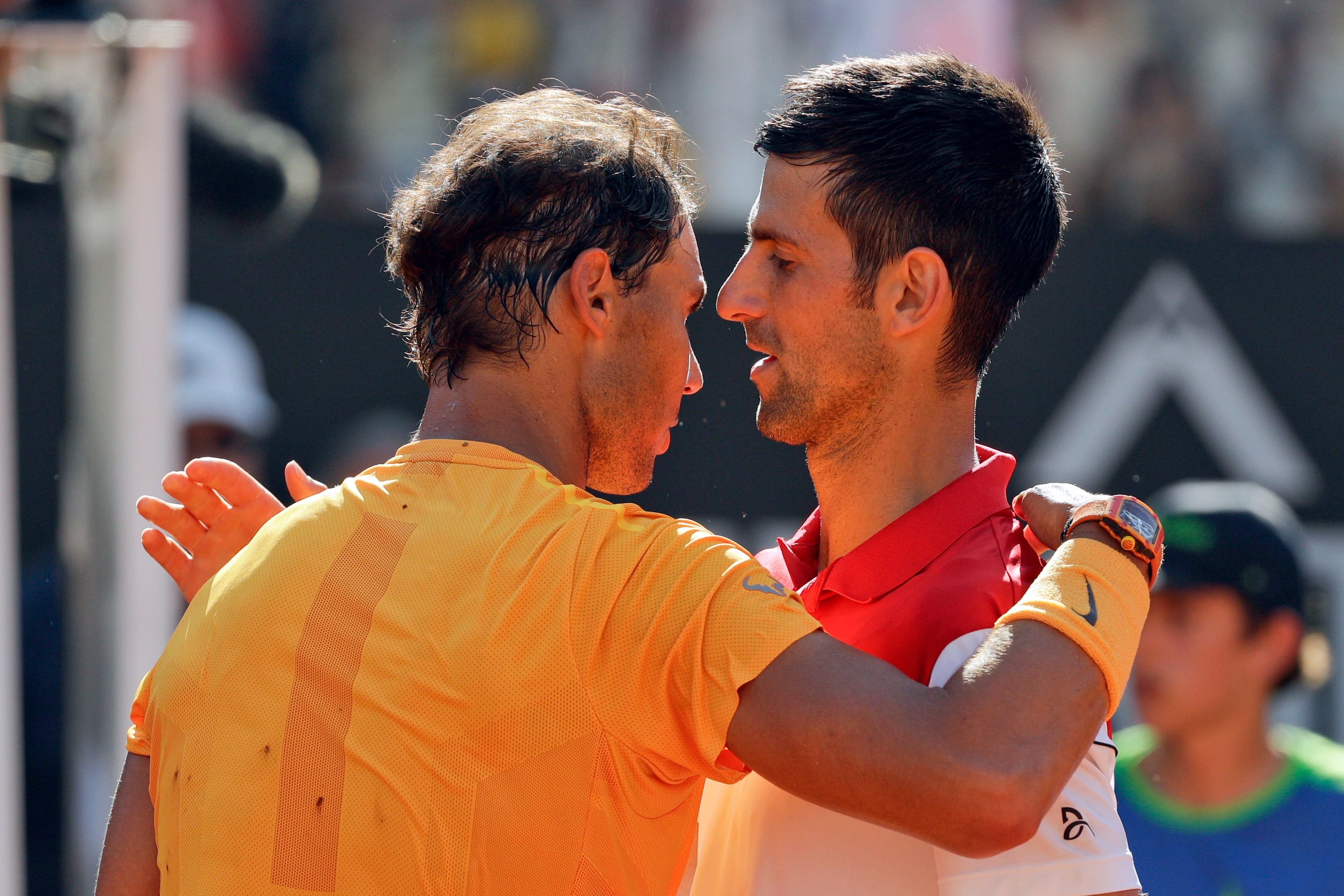 Rafael Nadal beats Novak Djokovic as rivalry resumes in Rome semifinals