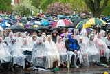 University of Vermont graduation of the Class of 2018 got off to a good start on Sunday, May 20, 2018... until the rain started.