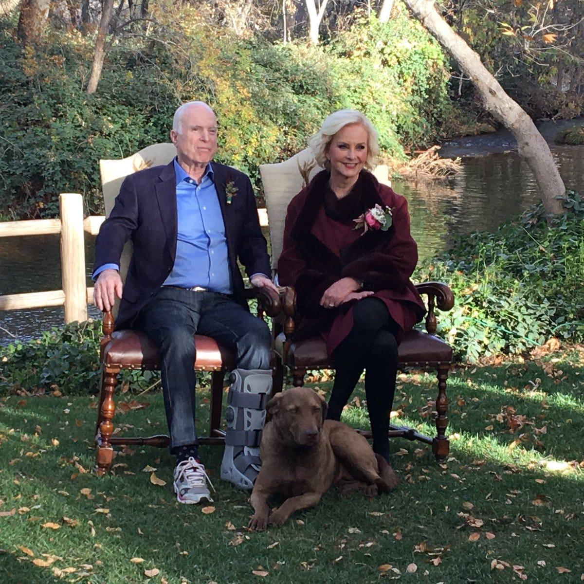 John McCain's beloved dog Burma dies in 'tragic accident,' Cindy McCain says