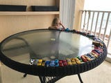 """Isabella lined up her toy cars by playing a game of """"duck, duck, goose"""""""