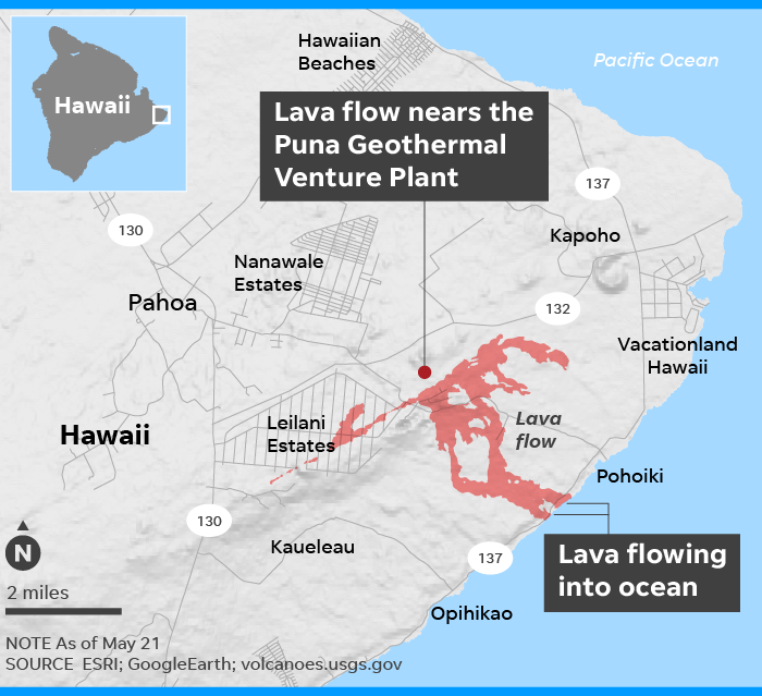 Hawaii volcano: Lava flows from Kilauea reach edge of power plant