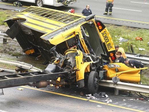 School bus driver charged with vehicular homicide in deaths of student, teacher in New Jersey crash