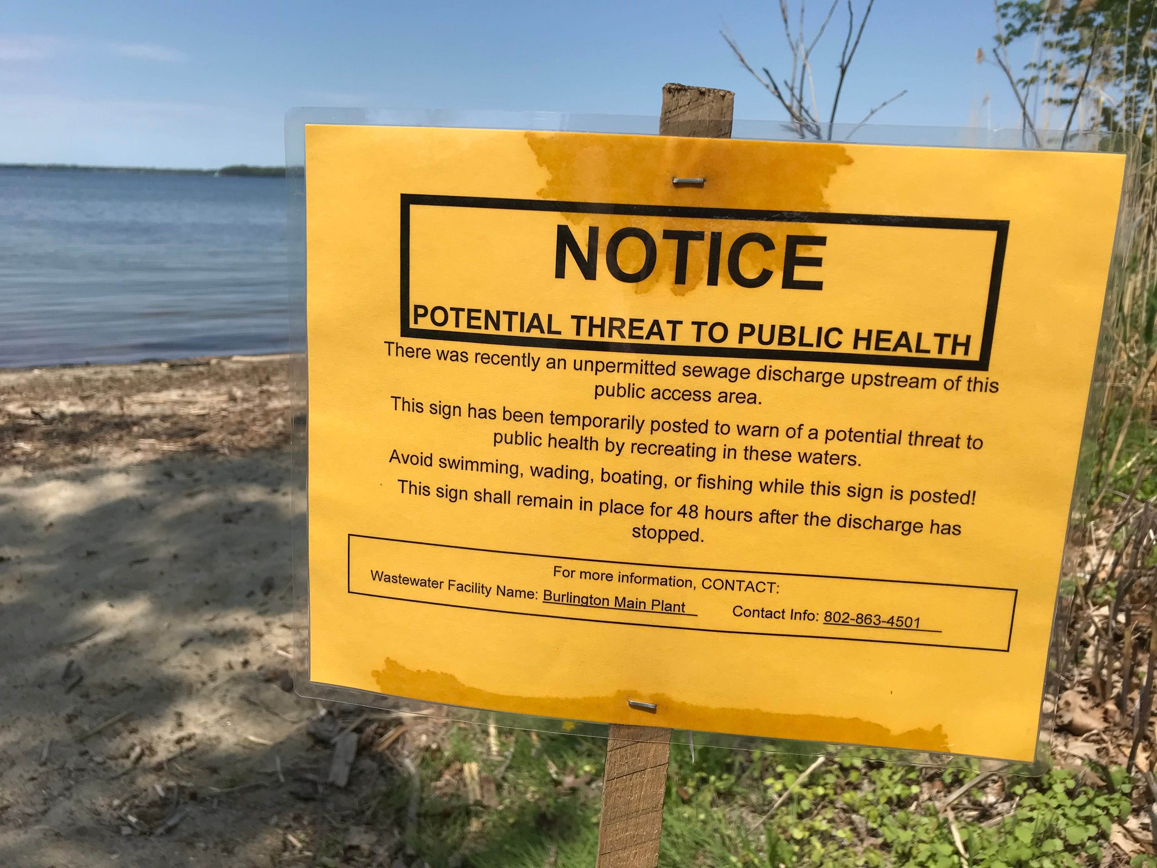 Unsafe E. coli levels found above Burlington's Blanchard beach