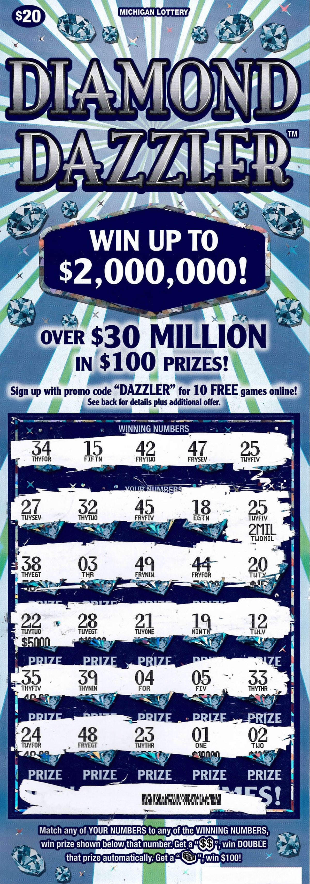 Michigan Lottery: Wayne County man wins $2M on instant ticket
