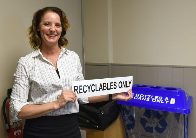 Tammi Rogers, program manager and education specialist for Coshocton County Recycling and Litter Prevention, said the new truck will allow them to keep the cardboard separated and clean so it doesn't get contaminated from the mixed recycling.
