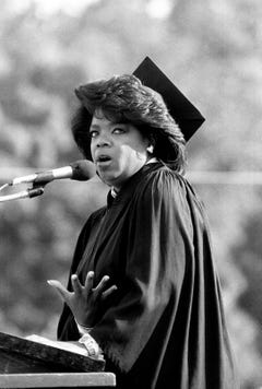 Talk show host Oprah Winfrey gave the address for Meharry Medical College in May of 1988