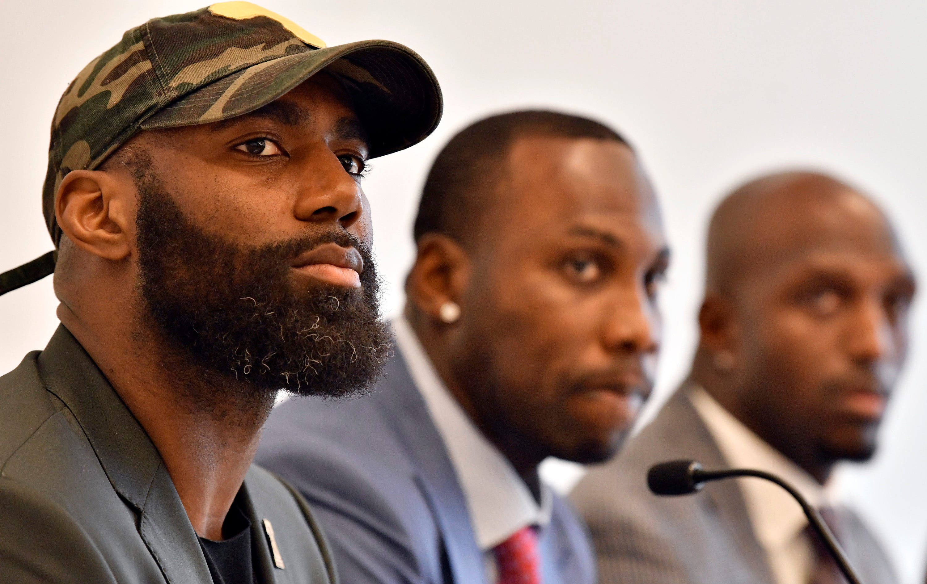 Current, former NFL players push reform message: Break cycles of injustice at the voting booth