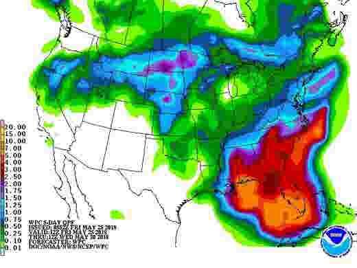 Subtropical Storm Alberto Forecast North Florida Will See Rain Gusts