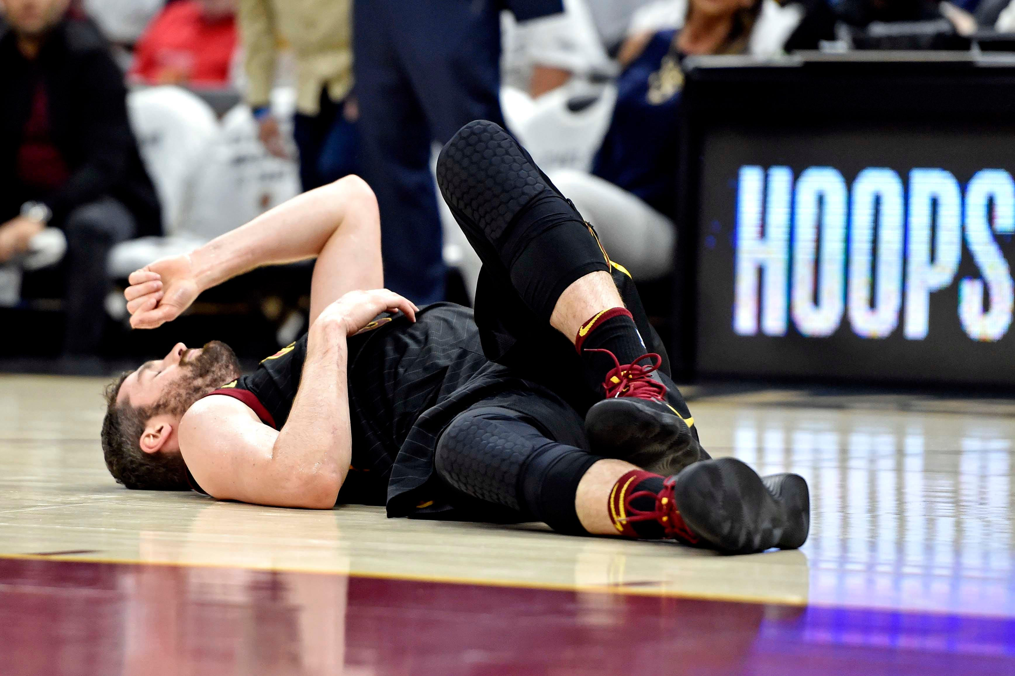 Kevin Love's status for Game 7 up in the air after head-to-head collision with Jayson Tatum
