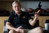 Kirk Ferentz, head coach of the University of Iowa football team talks about the Nov. 4, 2000, win at Penn State, 26-23, in double overtime.