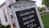 Church members attend a special service to celebrate the milestone