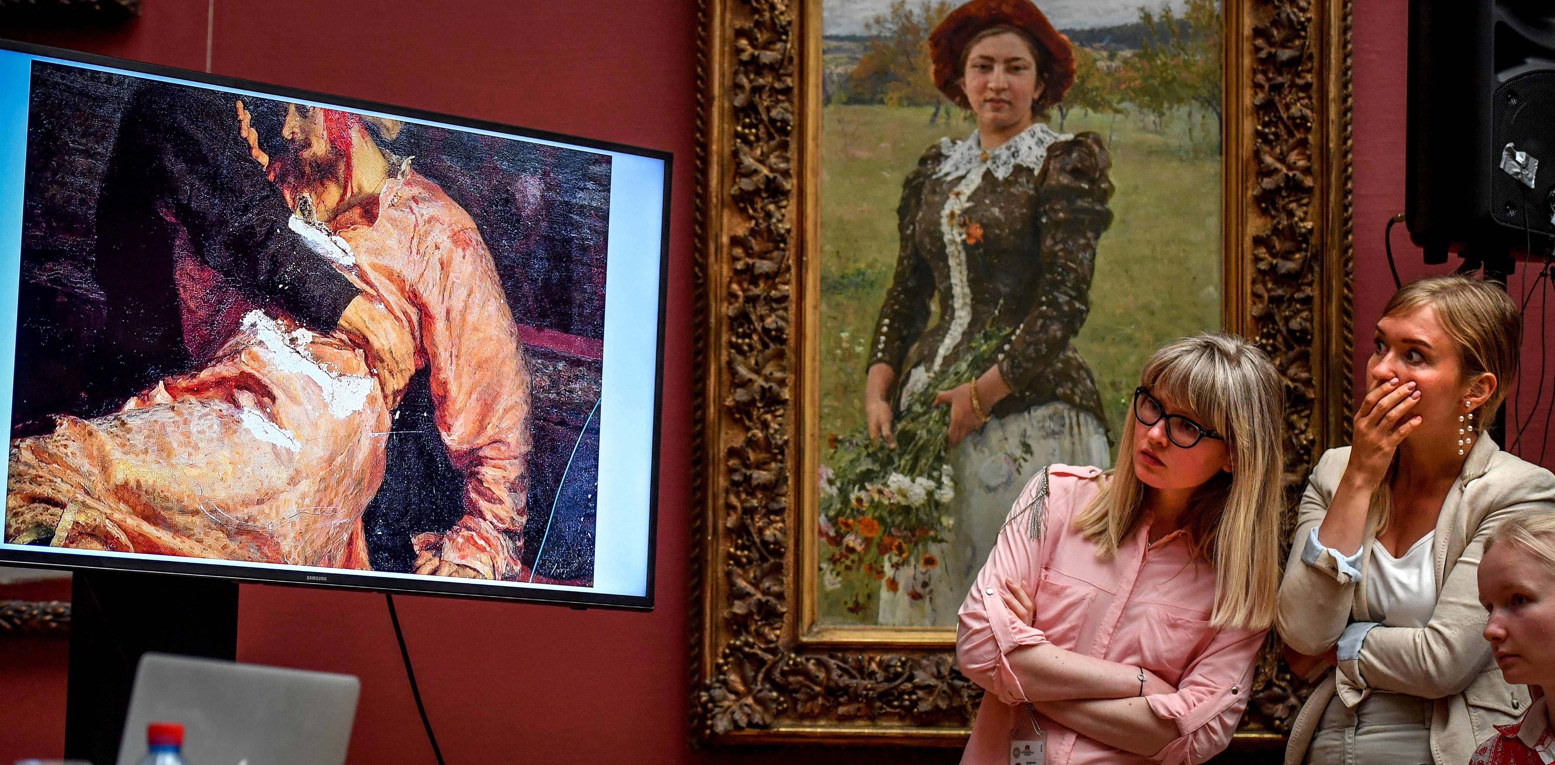Russian officials urge harshest sentence for man who damaged priceless Ivan the Terrible painting